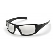 Pyramex Goliath Safety Glasses, Black Frame, Clear Lens