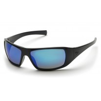 Pyramex SB5665D Goliath Safety Glasses - Black Frame - Ice Blue Mirror Lens