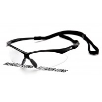 Pyramex PMXTREME Readers Safety Glasses Black Frame Clear Bifocal Lens +2.5 Magnificationw/ Cord