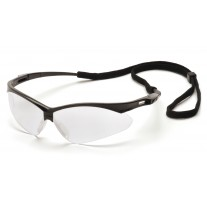 Pyramex SB6310STP PMXTREME Safety Glasses - Black Frame - Clear Anti-Fog Lens with Cord