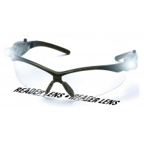 Pyramex PMXTREME LED Temples Readers Safety Glasses Black Frame Clear Bifocal Lens +2.0 Magnification