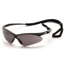 Pyramex SB6320SP PMXTREME Safety Glasses - Black Frame - Gray Lens with Cord