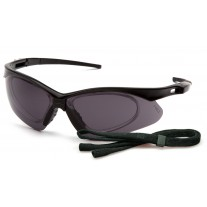 Pyramex PMXTREME Rx SB6320STRX Safety Glasses, Black Frame, Gray Anti-Fog Lens w/ Rx Insert