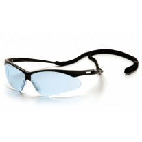 Pyramex SB6360SP PMXTREME Safety Glasses - Black Frame - Infinity Blue Lens with Cord