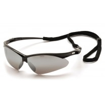 Pyramex SB6370SP PMXTREME Safety Glasses - Black Frame - Silver Mirror Lens with Cord
