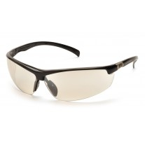 Pyramex SB6680D Forum Safety Glasses - Black Frame - Indoor/Outdoor Mirror Lens - (CLOSEOUT)