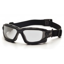 Pyramex I-Force Safety Glasses - Black Frame - Clear Anti-Fog Lens