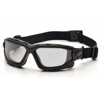 Pyramex I-Force Safety Glasses - Black Frame - Light Gray Anti-Fog Lens (CLOSEOUT - LIMITED STOCK AVAILABLE)