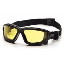 Pyramex I-Force Safety Glasses - Black Frame - Amber Anti-Fog Lens