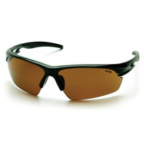 Pyramex SB8116D Ionix Safety Glasses Black Frame Sandstone Bronze Lens (Closeout - Limited Stock)