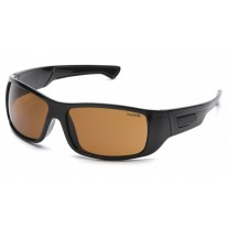 Pyramex Furix Safety Glasses, Black Frame, Coffee Lens, Anti-Fog