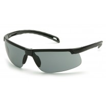 Pyramex Ever-Lite SB8620DT Safety Glasses, Black Frame Gray H2X Anti-Fog Lens