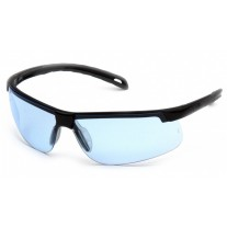 Pyramex Ever-Lite SB8660D Safety Glasses, Black Frame, Infinity Blue Lens