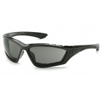 Pyramex SB8720DTP Accurist Safety Glasses - Black Frame - Gray Anti-Fog Lens