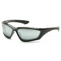 Pyramex Accurist Safety Glasses - Black Frame - Silver Mirror Lens