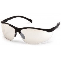 Pyramex Gravex SB8980S Safety Glasses - Black Frame - Indoor/Outdoor Mirror Lens