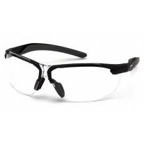 Pyramex SB9210ST Flex-Zone Safety Glasses - Black Frame - Clear Anti-Fog Lens - (CLOSEOUT - LIMITED AVAILABILITY)