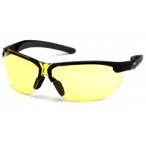 Pyramex Flex-Zone Safety Glasses, Black Frame, Amber Lens  (CLOSEOUT - LIMITED AVAILABILITY)