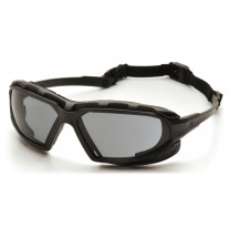 Pyramex Highlander Plus Safety Glasses - Black / Gray  Frame - Gray  Anti-Fog Lens