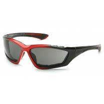 Pyramex SBR8720DTP Accurist Safety Glasses - Black / Red Frame - Gray Anti-Fog Lens (CLOSEOUT - LIMITED STOCK AVAILABLE)
