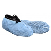 Keystone Large Shoe Cover - Polypropylene - Non-Skid - Blue with White Tread - 150 Pairs / Case