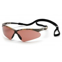 Pyramex PMXTREME Safety Glasses, Camo Frame, Sandstone Bronze Lens Anti-Fog with Cord