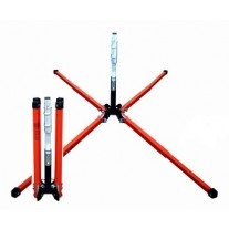 """Dicke SDL1000W DynaLite - Stands for Roll-Up Signs - 22"""" Steel Legs w/ Screwlock Panel Holder"""