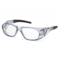 Pyramex Emerge Plus SG9810R30 Full Reader Safety Glasses Gray Frame Clear Lens +3.0 Magnification