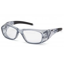 Pyramex Emerge Plus SG9810TR15 Top Reader Safety Glasses Gray Frame Clear Lens +1.5 Magnification