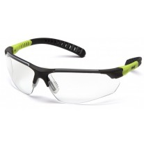Pyramex Sitecore SGL10110D Safety Glasses Black / Lime Frame Clear Lens