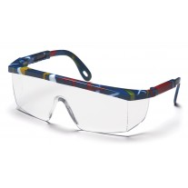 Pyramex SM410S Integra Safety Glasses Mixed Blue Frame Clear Lens