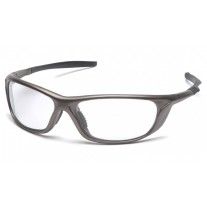 Pyramex Azera SP4410D Safety Glasses - Pewter Frame - Clear Lens - (CLOSEOUT - LIMITED STOCK AVAILABLE)