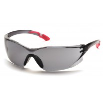 Pyramex Achieva Safety Glasses - Pink Temples Frame - Gray Lens (Closeout - Limited Stock)