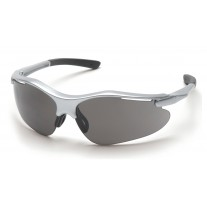 Pyramex SS3720D Fortress Safety Glasses Silver Frame Gray Lens