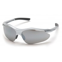 Pyramex SS3770D Fortress Safety Glasses Silver Frame Silver Mirror Lens (CLOSEOUT - LIMITED STOCK)