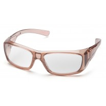Pyramex Emerge STC7910D15 Full Reader Safety Glasses - Translucent Caramel Frame - Clear +1.5 Lens (Closeout - Limited Stock)