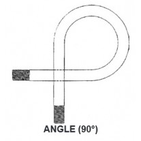 """PIC CPS4-ANGLE Syphon, Angle 1/4"""" NPT, Sch. 80  Iron, Pigtail"""