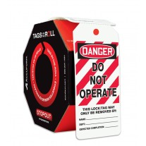 OSHA Danger Tags By-The-Roll: Do Not Operate, 100 / Roll