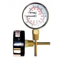 """PIC Heavy Duty Tridicator 3"""" Dial - 1/2"""" NPT Connection"""