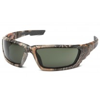 Venture Gear VGSCM1026DTB Brevard Safety Glasses - Camo Frame - Forest Gray Anti-Fog Lens - (CLOSEOUT)