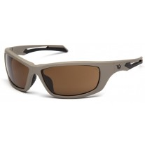 Venture Gear Howitzer VGST1318T Safety Glasses Bronze Anti-Fog Lens with Tan Frame