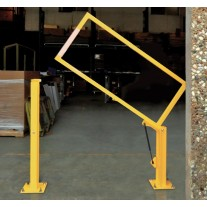 """Fabenco VG15-72PC Vertical Lift Gate - A36 Carbon Steel - Powder Coated Yellow - Fits 72"""" Opening"""