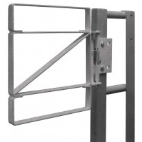 """Fabenco Z70-24 Self Closing Steel Safety Gate - Carbon Steel Galvanized - Fits 24-27"""" Opening"""