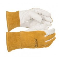 Weldas 10-1011 SOFTouch MIG / TIG Goatskin-Cowhide Welding Gloves, Pair