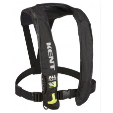 Kent 132802-700-004-19 A/M 33 All Clear Inflatable Life Jacket (PFD) - Adult Universal - Black