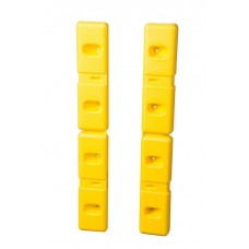 """Eagle Plastic Wall Protector - 42"""" H x 6"""" W x 2"""" D - Yellow - Set of 2"""