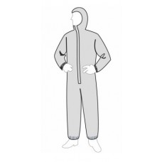 Liberty 18127 PermaGard Disposable Coverall - Attached Hood & Elastic Ankles - 25/Case