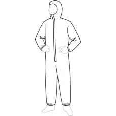 Liberty 19127 ProGard Hooded SMS Coverall - Elastic Wrists & Ankles - 25/Case