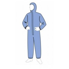 Liberty 19127B ProGard Hooded SMS Coverall - Elastic Wrists & Ankles - 25/Case - Blue