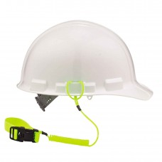 Ergodyne Squids 3157 Coil Hard Hat Lanyard w/ Buckle, Lime